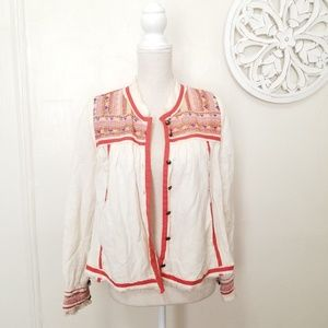 Free people size S embroidered jacket